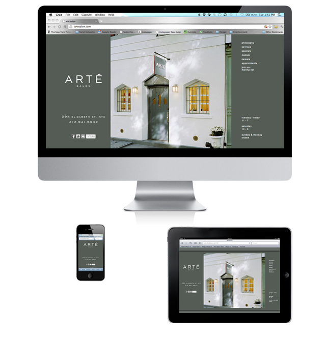 Arté-Salon-Website